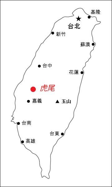 Taiwanoutlinemapcityjapanese
